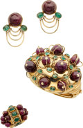 Estate Jewelry:Suites, Ruby, Emerald, Gold Jewelry Suite, RAS. ...