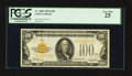 Small Size:Gold Certificates, Fr. 2405 $100 1928 Gold Certificate. PCGS Very Fine 25.. ...