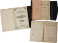Miscellaneous:Ephemera, [Civil War] Group of Three Journals owned by Charles A. Holmesincluding:...