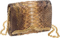 Luxury Accessories:Bags, Rodo Python Metallic Copper & Jewel Evening Bag. ...