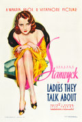 "Movie Posters:Drama, Ladies They Talk About (Warner Brothers, 1933). One Sheet (27"" X41"").. ..."