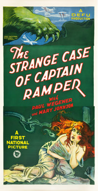 """The Strange Case of Captain Ramper (First National, 1928). Three Sheet (41"""" X 81"""")"""