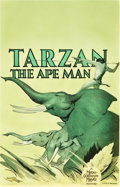 "Movie Posters:Adventure, Tarzan the Ape Man (MGM, 1932). Window Card (14"" X 22"").. ..."