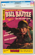 Golden Age (1938-1955):War, Bill Battle, The One Man Army #4 Crowley Copy pedigree (Fawcett,1953) CGC NM 9.4 Off-white to white pages....