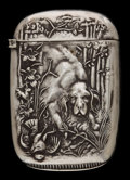 Silver Smalls:Match Safes, AN AMERICAN SILVER MATCH SAFE . Maker unknown, American, circa1890. Marks: STERLING. 2-1/2 inches high (6.4 cm). .64 tr...