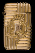 Silver Smalls:Match Safes, AN AMERICAN GILT METAL MATCH SAFE . Courvoisier-Wilcox, Brooklyn,New York, circa 1900. Marks: XS (conjoined), 118. ...