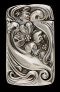 Silver Smalls:Match Safes, AN UNGER BROTHERS SILVER AND SILVER GILT MATCH SAFE . Unger Bros.,Newark, New Jersey, circa 1900. Marks: (UB intertwined)...