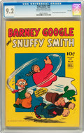 Golden Age (1938-1955):Humor, Four Color #40 Barney Google and Snuffy Smith - File Copy (Dell, 1944) CGC NM- 9.2 Cream to off-white pages....