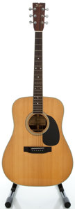 Musical Instruments:Acoustic Guitars, Circa 1980's Fender F75 Natural Acoustic Guitar, Serial #FK100303....