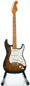 Musical Instruments:Electric Guitars, Circa 1980's Fender Stratocaster Re-issue Sunburst Solid BodyElectric Guitar, Serial #44564....