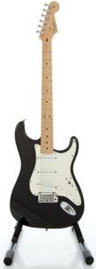 Musical Instruments:Electric Guitars, 2001 Fender Stratocaster USA Black Solid Body Electric Guitar,Serial #Z1033549....