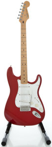 Musical Instruments:Electric Guitars, 1995 Fender Stratocaster MIM Candy Apple Red Solid Body ElectricGuitar, Serial #MN5182850....