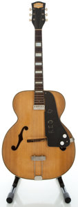 Musical Instruments:Electric Guitars, 1950 National Blonde Archtop Electric Guitar, Serial #V31527....