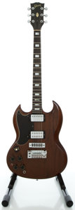 Musical Instruments:Electric Guitars, Circa 1973 Gibson SG Standard Lefty Walnut Solid Body ElectricGuitar, Serial #130006....