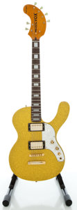 Musical Instruments:Electric Guitars, Musicvox Spaceranger Gold Sparkle Solid Body Electric Guitar,Serial #9810125....