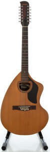 Musical Instruments:Acoustic Guitars, Circa 1960's Giannini Natural 12 String Acoustic Guitar....