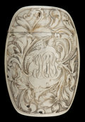 Silver Smalls:Match Safes, AN AMERICAN SILVER MATCH SAFE . Maker unknown, American, circa1880. Marks: STERLING (shoe) 699. 2-1/2 inches high(...