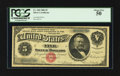 Large Size:Silver Certificates, Fr. 260 $5 1886 Silver Certificate PCGS About New 50.. ...
