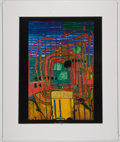 Books:Art & Architecture, Friedensreich Hundertwasser. Hommage Au Tachisme. No. 460. Color lithograph. Approximately 14 x 11 inches of pri...