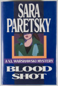 Books:Mystery & Detective Fiction, Sara Paretsky. Blood Shot. [New York]: Delacorte Press, [1988]. First edition, first printing. Octavo. 328 pages...