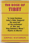 Books:Mystery & Detective Fiction, Lionel Davidson. The Rose of Tibet. London: Victor Gollancz, 1962. First edition. Octavo. 320 pages. Publisher's bin...