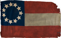 Civil War Eleven Star Confederate First National Flag from the Personal Effects of Lt. Henry Bedinger Davenport 2nd Virg...