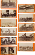 Photography:Stereo Cards, Group of Eleven Orange Mount E. & H. T. Anthony Civil War Stereo Views....