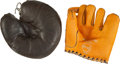 Baseball Collectibles:Others, 1948 Pee Wee Reese (Mint) and Vintage Catcher's Store Model GlovesLot of 2....