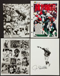 Football Collectibles:Photos, Jim Plunkett Signed Photographs Lot of 4....