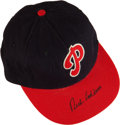 Baseball Collectibles:Hats, Rich Ashburn Signed Philadelphia Phillies Cap....