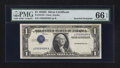 Error Notes:Inverted Third Printings, Fr. 1613N $1 1935D Silver Certificate. PMG Gem Uncirculated 66EPQ.. ...