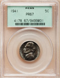 Proof Jefferson Nickels: , 1941 5C PR67 PCGS. PCGS Population (81/3). NGC Census: (68/0).Mintage: 18,720. Numismedia Wsl. Price for problem free NGC/...