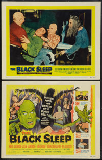 "The Black Sleep (United Artists, 1956). Title Lobby Card and Lobby Card (11"" X 14""). Horror. ... (Total: 2 Ite..."