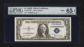 Small Size:Silver Certificates, Fr. 1613W* $1 1935D Wide Silver Certificate. PMG Gem Uncirculated 65 EPQ.. ...