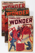 Pulps:Science Fiction, Thrilling Wonder Stories Group (Standard, 1938-39).... (Total: 3 )
