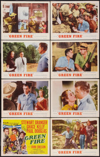 "Green Fire (MGM, 1954). Lobby Card Set of 8 (11"" X 14""). Adventure. ... (Total: 8 Items)"