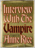 Books:Horror & Supernatural, Anne Rice. Interview with the Vampire. New York: Knopf, 1976. First edition, first printing. Octavo. 371 pages. Publ...