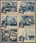 """Movie Posters:Western, Ride Him, Cowboy (Warner Brothers, R-1940s). Title Lobby Card and Lobby Cards (5)(11"""" X 14""""). Western.. ... (Total: 6 Items)"""