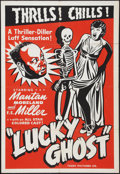 """Movie Posters:Black Films, Lucky Ghost (Toddy Pictures, R-1943). One Sheet (27"""" X 41""""). BlackFilms.. ..."""