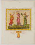 Antiques:Posters & Prints, Hand-Colored Copper Engravings of Early English Clothing....