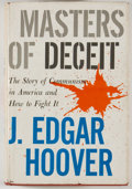 Books:Americana & American History, J. Edgar Hoover. INSCRIBED. Masters of Deceit. New York:Henry Holt, [1958]. Third printing. Inscribed by Hoover...