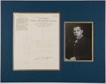 Autographs:Statesmen, Booker T. Washington Typed Letter Signed with Photograph....