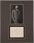 Autographs:Artists, Artist John Singer Sargent Autograph Note Signed....