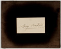 Autographs:Artists, Sculptor Auguste Rodin Signed Notecard....