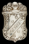 Silver Smalls:Match Safes, AN AMERICAN SILVER AND SILVER GILT MATCH SAFE . Maker unidentified,circa 1891. Marks: STERLING-F, Pat. APP FOR. 2-1/2 i...