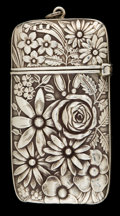 Silver Smalls:Match Safes, A FRANK WHITING SILVER MATCH SAFE . Attleboro, Massachusetts, circa1890. Marks: (W in circle), STERLING 82. 2-1/2 inche...