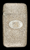 Silver Smalls:Match Safes, A FRANK WHITING SILVER MATCH SAFE . Frank M. Whiting Co., NorthAttleboro, Massachusetts, circa 1880. Marks: F.M.W & CO.,...