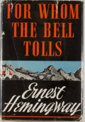 "Books:Literature 1900-up, Ernest Hemingway. For Whom the Bell Tolls. New York: CharlesScribner's Sons, 1940. First edition, with ""A"" on copyr..."
