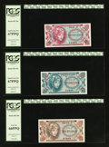 Military Payment Certificates:Series 651, Series 651 10¢ PCGS Superb Gem New 67PPQ. Series 651 25¢ PCGSSuperb Gem New 67PPQ. Series 651 50¢ PCGS Gem New 66PPQ.... (Total:3 notes)