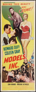 "Movie Posters:Crime, Models, Inc. (Mutual Productions, 1952). Insert (14"" X 36"").Crime.. ..."